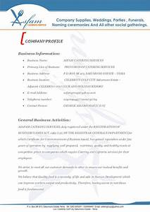 asfam catering services business proposal With catering business proposal letter sample