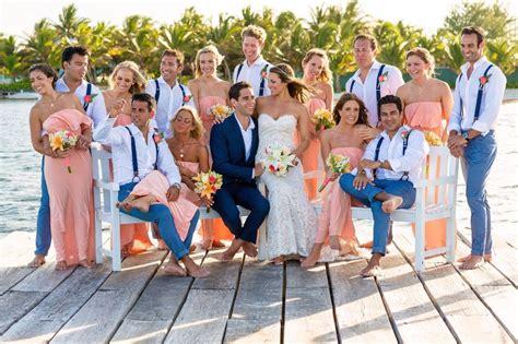 my big belizean beach wedding party photos bridal