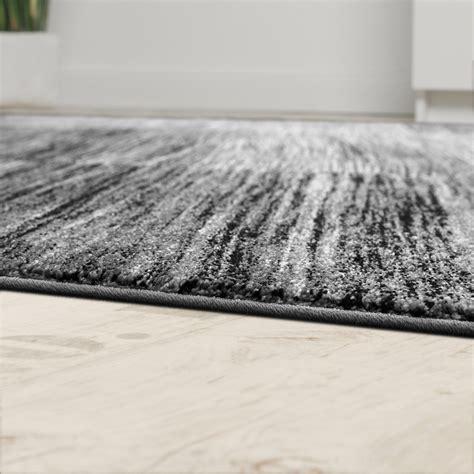 teppich schwarz grau wohnzimmer teppich karo meliert grau schwarz design teppiche