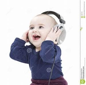 Baby Ear Listening Headphones Stock Image | CartoonDealer ...