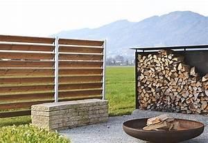 Sichtschutz Holz Und Edelstahl