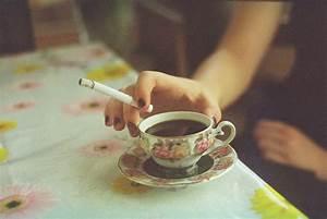 cigarette, cup, film, flower - image #511661 on Favim.com