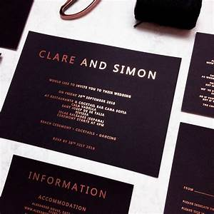 rose gold and black copper foil wedding invitation by made With black white and rose gold wedding invitations