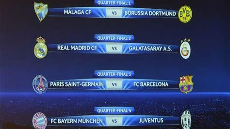 uefa champions league draw barcelona  psg bayern