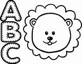 Lion Coloring Animal Abc Pages Wecoloringpage Clipartmag sketch template