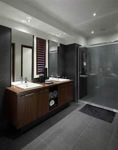 59 salles de bain chic qui vous montrent le beaute du With salle de bain gris fonce