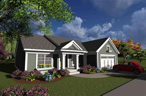 bed ranch  open concept floor plan ah architectural designs house plans