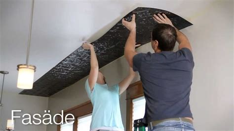 Kitchen Ceramic Tile Ideas - fasade glue up ceiling panel installation youtube