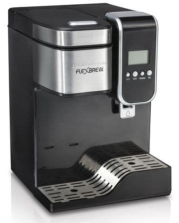 You can brew up your standard drip coffee or you can even make the single k cup variation with just this one machine. Hamilton Beach Flexbrew with Hot Water Dispensing Coffee Maker   Walmart Canada