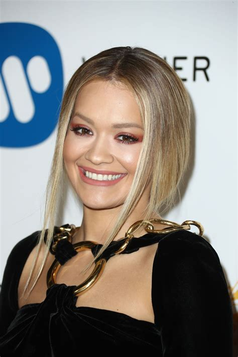 RITA ORA at Warner Music Group Grammy After Party in Los ...