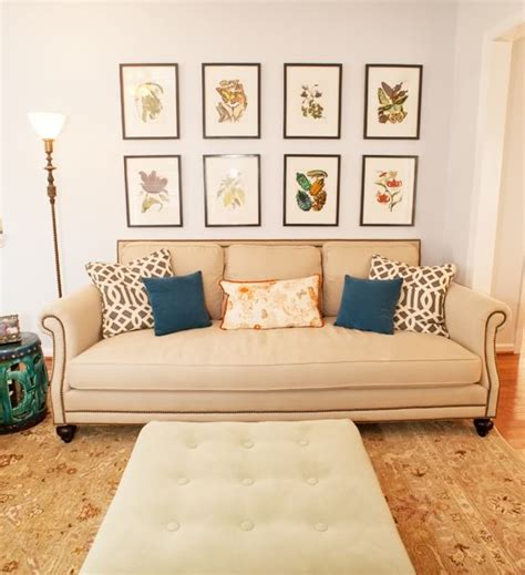 10 ways to fill the space above your sofa design dilemma what to hang on the big wall behind your