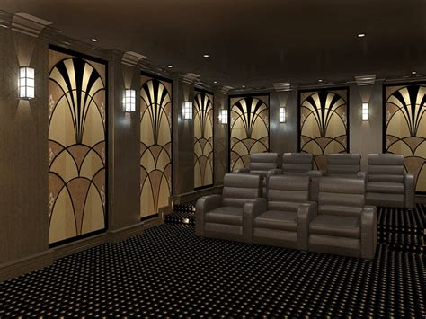 Interior Design For Home Theatre by Deco Acoustic Panels Styles Deco Theater Designs
