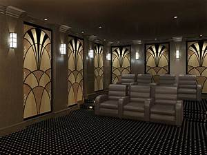 Art deco acoustic panels styles art deco theater designs for Art deco cinema interior