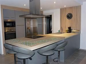 cuisine complete avec colonne meuble de cuisine modele With frigo americain dans cuisine equipee