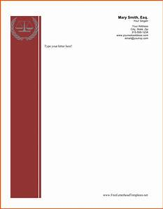8 business letterhead template bookletemplateorg With legal stationery templates