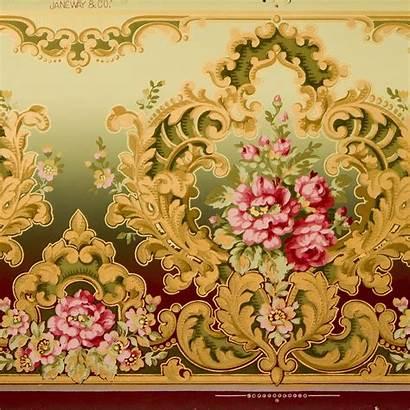 Rococo Frieze Antique Remnant Roses Floral
