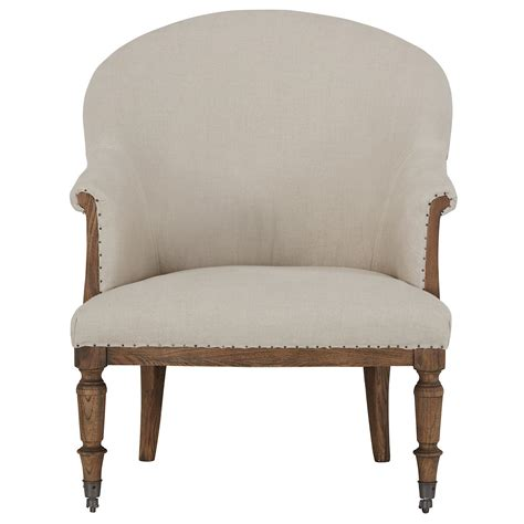 city furniture beige upholstered arm chair
