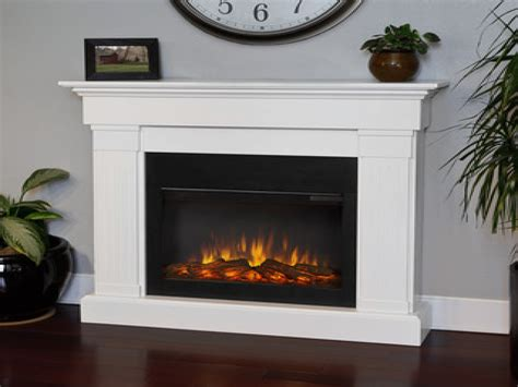 Electric Indoor Fireplaces White Electric Fireplace