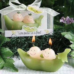 two peas in a pod collection candle favors With two peas in a pod wedding favors