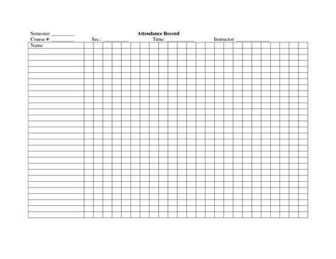 school attendance register template school study ideas