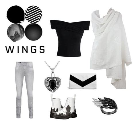 U0026quot;BTS WINGS album outfitu0026quot; by blackandbloodredpunk on Polyvore featuring NOVICA Chicwish True ...