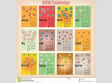 Colorful Calendar2016 stock vector Illustration of date