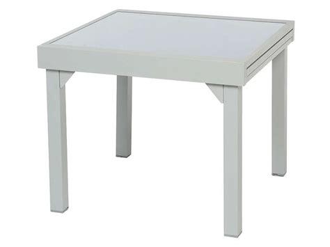table cuisine extensible table de jardin 90 cm avec allonge tenerife coloris silver