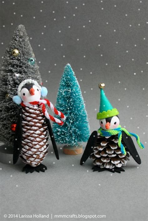 pinecone ornaments ideas  pinterest pinecone