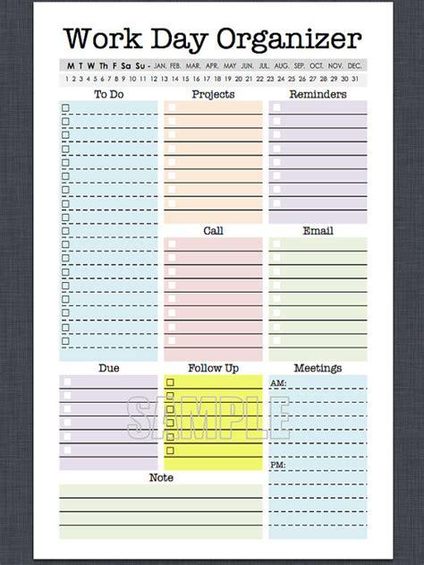 mini work organizer  letter size printable planner