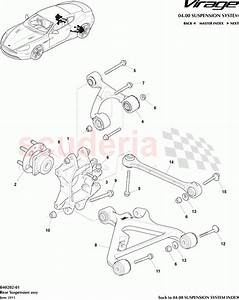 Aston Martin Virage Rear Suspension Assembly Parts