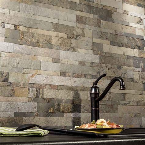 Kitchen Backsplash Tiles Peel And Stick by Aspect Backsplash Tile In Medley Slate In 2019
