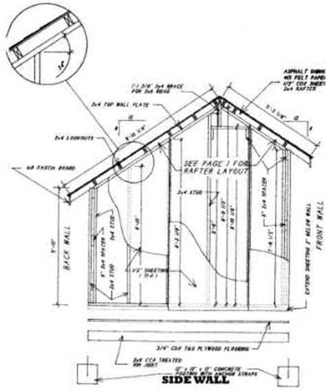 Saltbox Shed Plans 8x12 by Learn Free 8x10 Saltbox Shed Plans Goehs