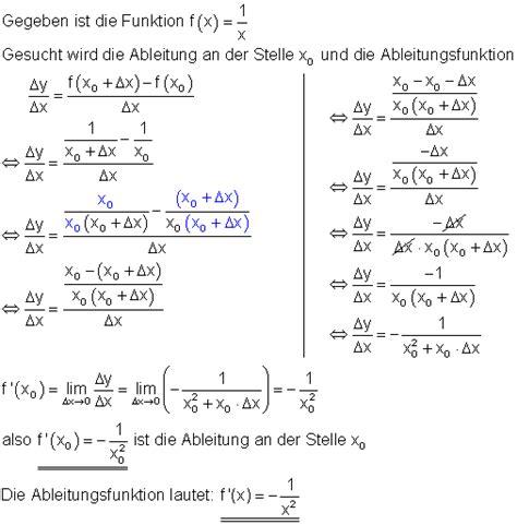 differentialquotient und ableitung mathe brinkmann