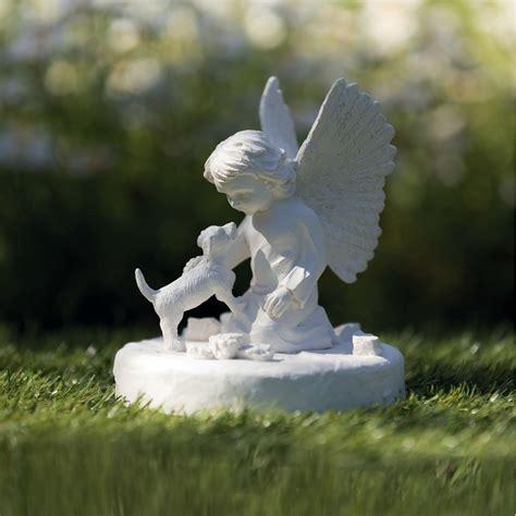 grabstein gedenkstein hund mit engel  von trixie