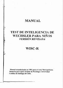 Manual Wisc