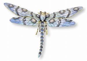 Libelle Aus 18 Kt Gold Email Diamantrosen Opale Rubine