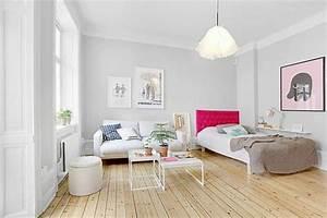 50 idees pour amenager un petit studio page 2 sur 5 With comment meubler son salon 3 transformer un garage en petit studio