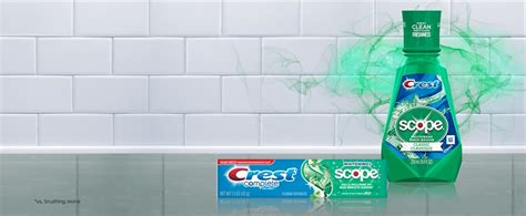 shop toothpaste and mouthwash for bad breath crest