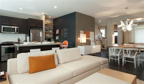kitchen and living room color ideas playful and colorful home interior decor open plan