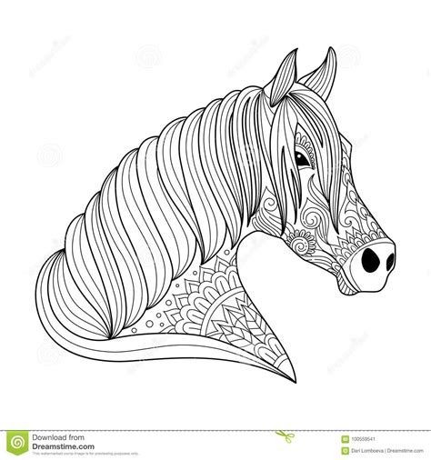 drawing horse zentangle style  adult  children