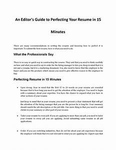 how to perfect your resume in 15 minutes authorstream With free resume in 15 minutes