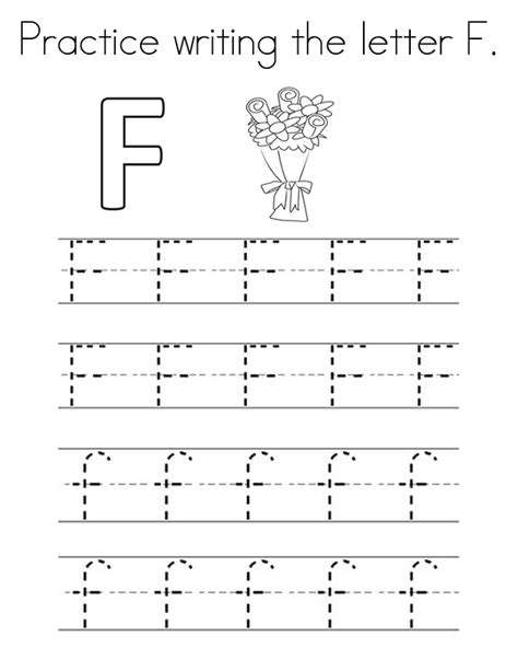 letter f worksheets kids learning activity