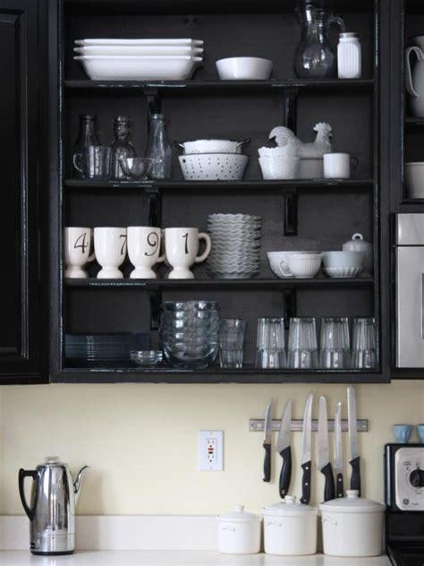 open shelf kitchen cabinet ideas colorful painted kitchen cabinet ideas hgtv 39 s decorating