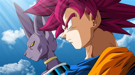 wallpaper beerus super saiyan god goku dragon ball
