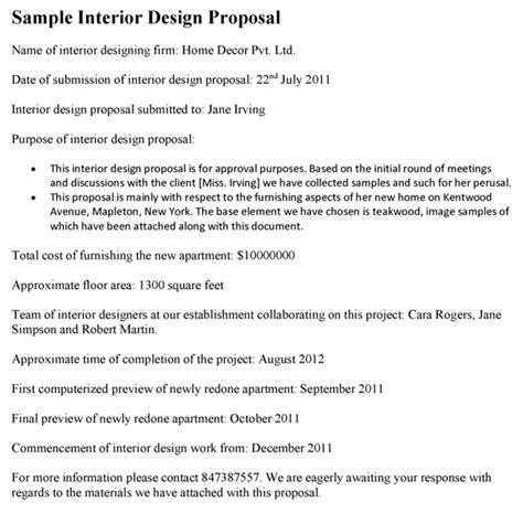 interior design proposal template