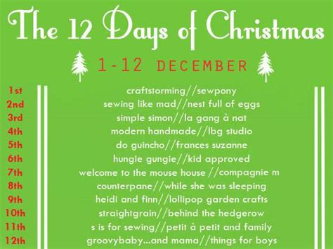 The 12 Days Of Christmas A Sewing Series And Sew Along Craftstorming