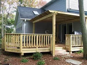 Wood Railing Designs For Decks — Unique Hardscape Design