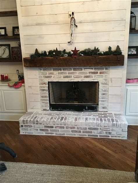 painted brick fireplace 83 modern rustic painted brick fireplaces ideas paint Modern