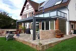 Terrasse Mit überdachung : terrassendach aus glas und aluminium glalum ~ A.2002-acura-tl-radio.info Haus und Dekorationen