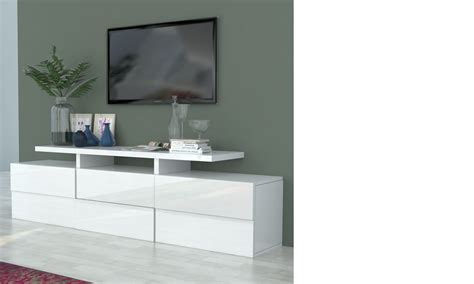 meuble tv design laque blanc meuble tv blanc laqu 233 design betty
